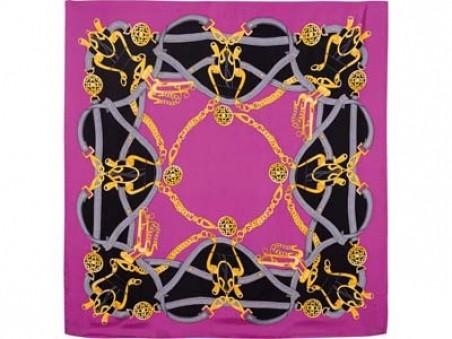 Розовый шелковый платок Lady Hamilton