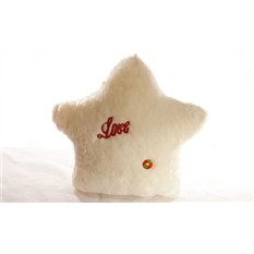 Светящаяся подушка звезда Love