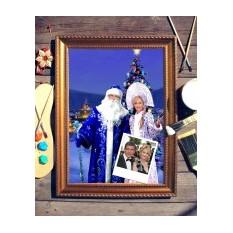 Парный портрет по фото Дед Мороз и Снегурочка
