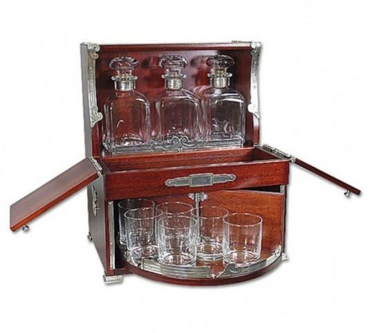 Бар-бюро Dedalo, 3 графина+6 стаканов