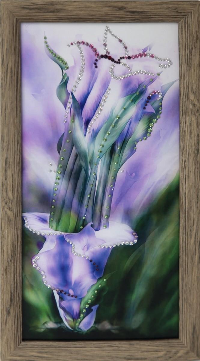 Картина с кристаллами Сваровски Фиолетовые каллы
