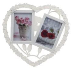 Белая мультирамка-коллаж для 2 фотографий От всего сердца