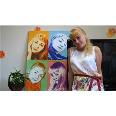 Картина в стиле поп-арт в подарок девушке