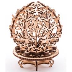 Деоревянный 3D-пазл UGears Механический цветок (Flower)