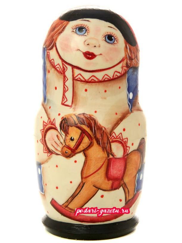 картинка русской народной игрушки лошадка и матрешка нередко встречаются