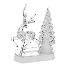 Светящееся новогоднее украшение Олень у елки