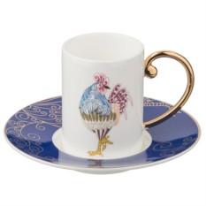 Кофейный набор Петух (цвет — синий)
