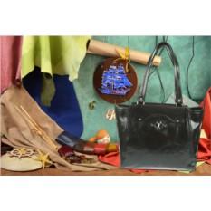 Черная кожаная сумка из коллекции Gianni Conti