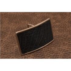 Пряжка для ремня с кожаной вставкой G.Design (синий)