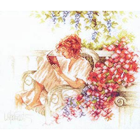 Набор для вышивания «Девушка с книгой»