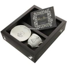 Подарочный набор: чашка с блюдцем Сон Татьяны, аудиодиск