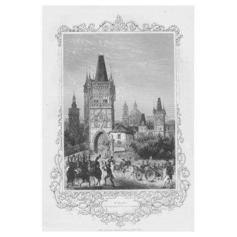 Гравюра «Союзные войска занимают Прагу»