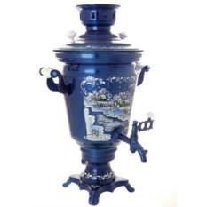 Электрический самовар на 4 литра с росписью Зимний вечер