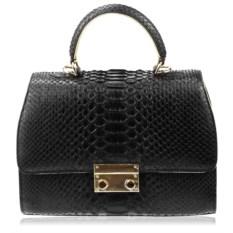Черная сумка из кожи питона