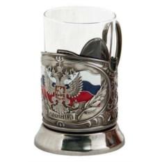 Цветной подстаканник Герб России