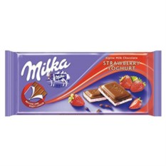 Шоколад Milka Strawberry Youghurt