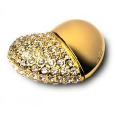 Флешка Сердце золотого цвета