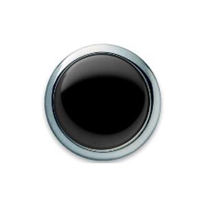 Запонки круглые, черный оникс от Grants of Dalvey