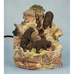 Декоративный комнатный фонтан «Три медведя»
