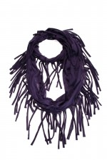 Круговой шарф Бахрома, фиолетовый