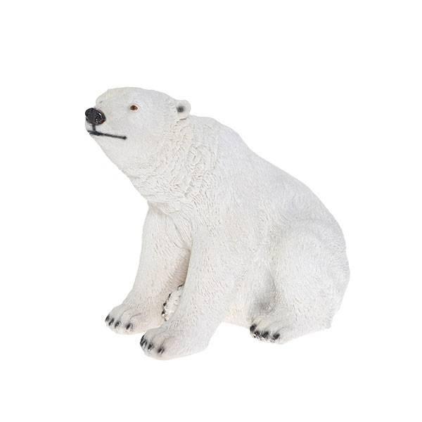 Декоративная садовая фигура Белый медведь