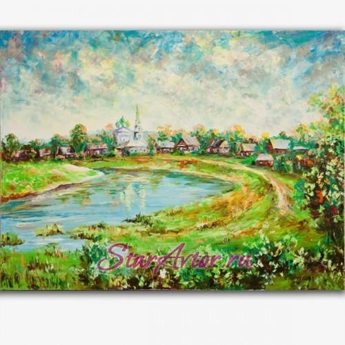 Авторский пейзаж Воскресенский монастырь. Солигалич