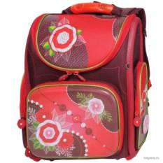 Красный школьный ранец Hummingbird School Цветы