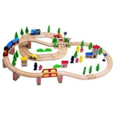 Набор Woody Деревянная железная и автомобильная дороги