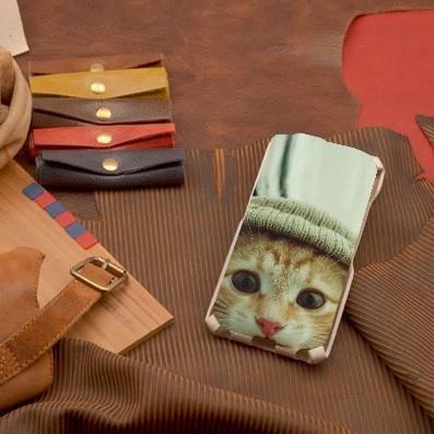 Кожаный чехол-флип для iPhone 6S / 6 Кот-хипстер