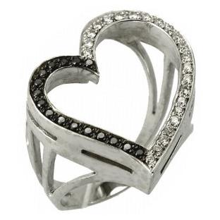 Кольцо с 40-ю бриллиантами
