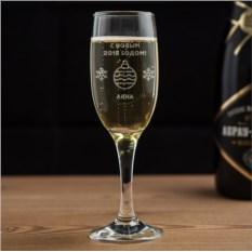 Бокал для шампанского «Новый год»