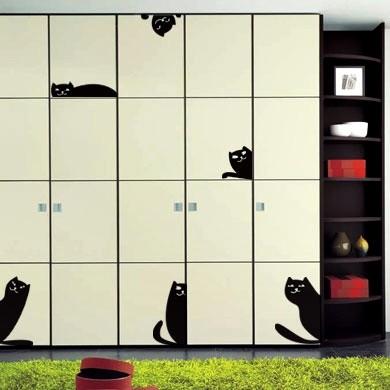 Интерьерный стикер Кот и плодотворная маркетинговая идея