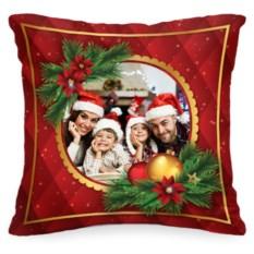 Декоративная подушка с вашим фото «Новогоднее настроение»