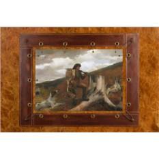 Картина из кожи Охотник и собаки Уинслоу Гомер