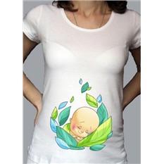 Футболка для беременных В капусте