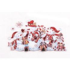 Декоративная наклейка со снеговиками Новогодняя (45х26 см)