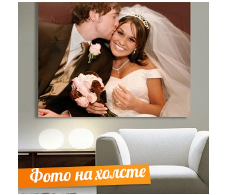 Свадебный портрет на холсте по фото