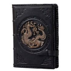 Черный ежедневник формата А5 «Дракон»