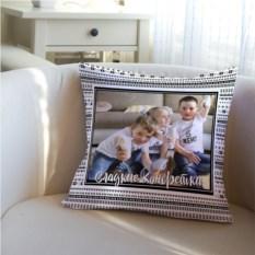 Декоративная подушка с вашим именем Сладкие конфетки