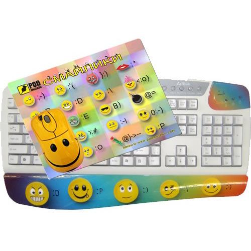 Клавиатура, мышь, коврик «Смайл»