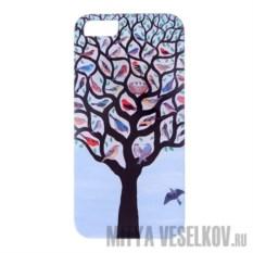 Чехол для IPhone 5 Дерево с птичками