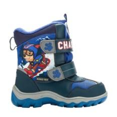 Синие сноубутсы для мальчиков на липучке Paw Patrol