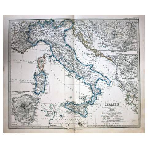 Старинная карта Италии
