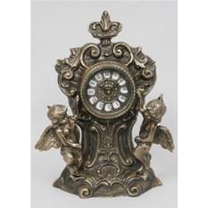 Часы с двумя амурами из бронзы