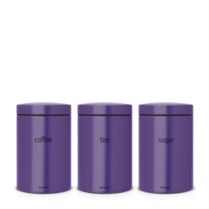 Набор фиолетовых контейнеров для хранения