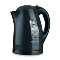 Черный электрический чайник Maxwell на 1,7 л