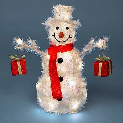 Снеговичок белый с подарками