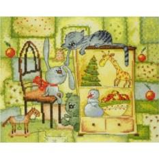 Набор для вышивания Рождественское одеяло