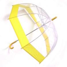 Прозрачный зонт-купол, желтый