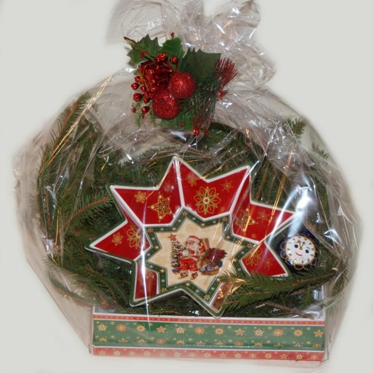 Новогодний подарок с салатником  Звезда большая